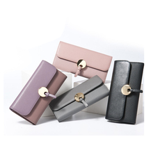 Korea Style Card money bag Genuine Leather Lady <strong>Wallet</strong> Woman