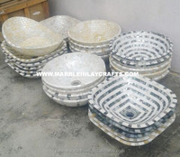 Decorative Mother Of Pearl Handmade Bowls For Sink Use