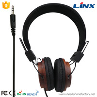 Fashion product ideas 2016 high quality wood custom wholesale bass certified logo design ps4 headphone