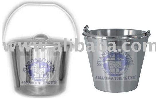steel milk bucket