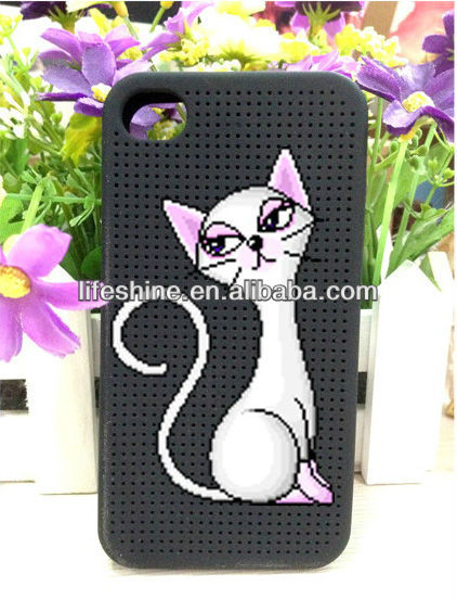 Animal cross stitch phone case,cat phone case for iphone