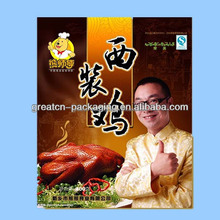 clear plastic retort pouch /food packaging bag for chicken