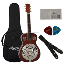 Wholesale price Aiersi brand Mahogany Acoustic Dobro Guitar