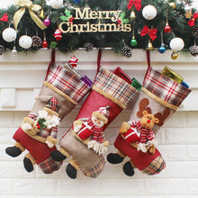 Hot Sale Christmas Decoration Supplies, Christmas Stockings For Decoration, Santa Claus Style Gift Bags For Christmas