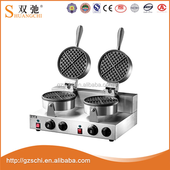 SC-X32B 2-plate stainless steel Waffle Baker Machine For Restaurant
