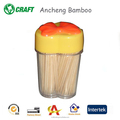 Paper wrapped round double point disposable bamboo wooden toothpicks
