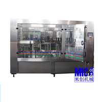 Strong packing plc control 8000bph glass bottle filling machine for mienral water