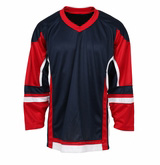 Navy-red-white-o XM018 blank ice hockey jersey accept custom logo/name/number