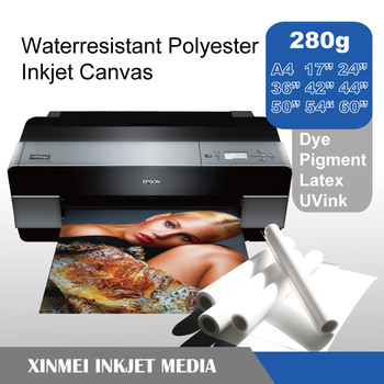 Polyester inkjet canvas for poster printing