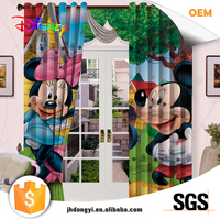 High quality hot selling fancy Diisney 3d fabric curtain
