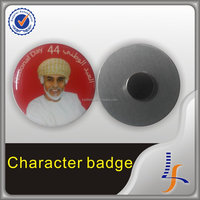 Custom offset printing pin badge magnetic button badge