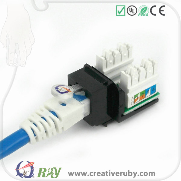 2017 Reliable product supplier Unshielded 8P8C RJ45 Cat6 modular jack for network cables and cabling system