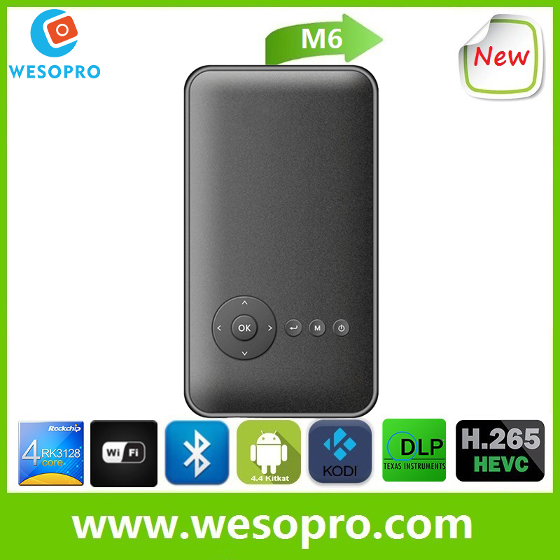 WESOPRO mini home theater projector,portable intelligent LED projector,mobile smart mini projector mobile phone