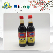 500ml glass bottle packed soy sauce for Japanese sushi products