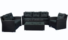 2016 Simple latest design modular rattan 3 seats sofa set wicker garden furniture