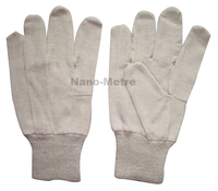 NMSAFETY cheap skin color cotton gloves Nature jersey 7 oz cotton glove, knit wrist.