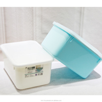 Taizhou Hengming PP wholesale household plastic plastic rice bin with flip lid