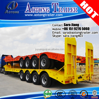 4 Axles 100ton Low bed Semi Truck Trailer/Lowboy dolly Trailers for sale