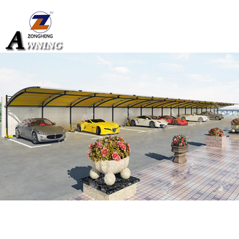 Metal frame waterproof sunshade double car garages canopies carports