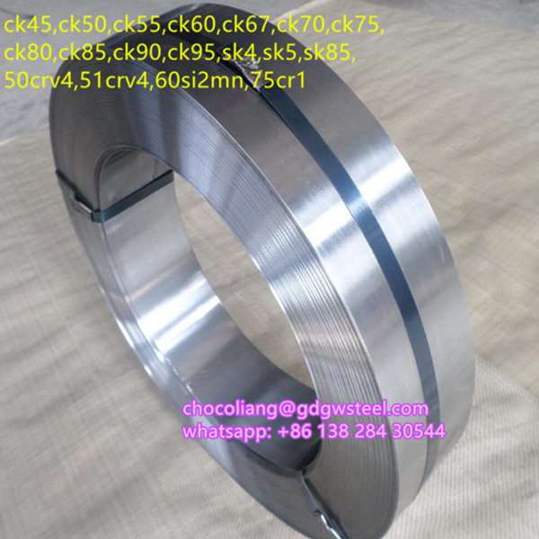 Tempered blue high carbon strip steel CK67 CK75 C67 C75