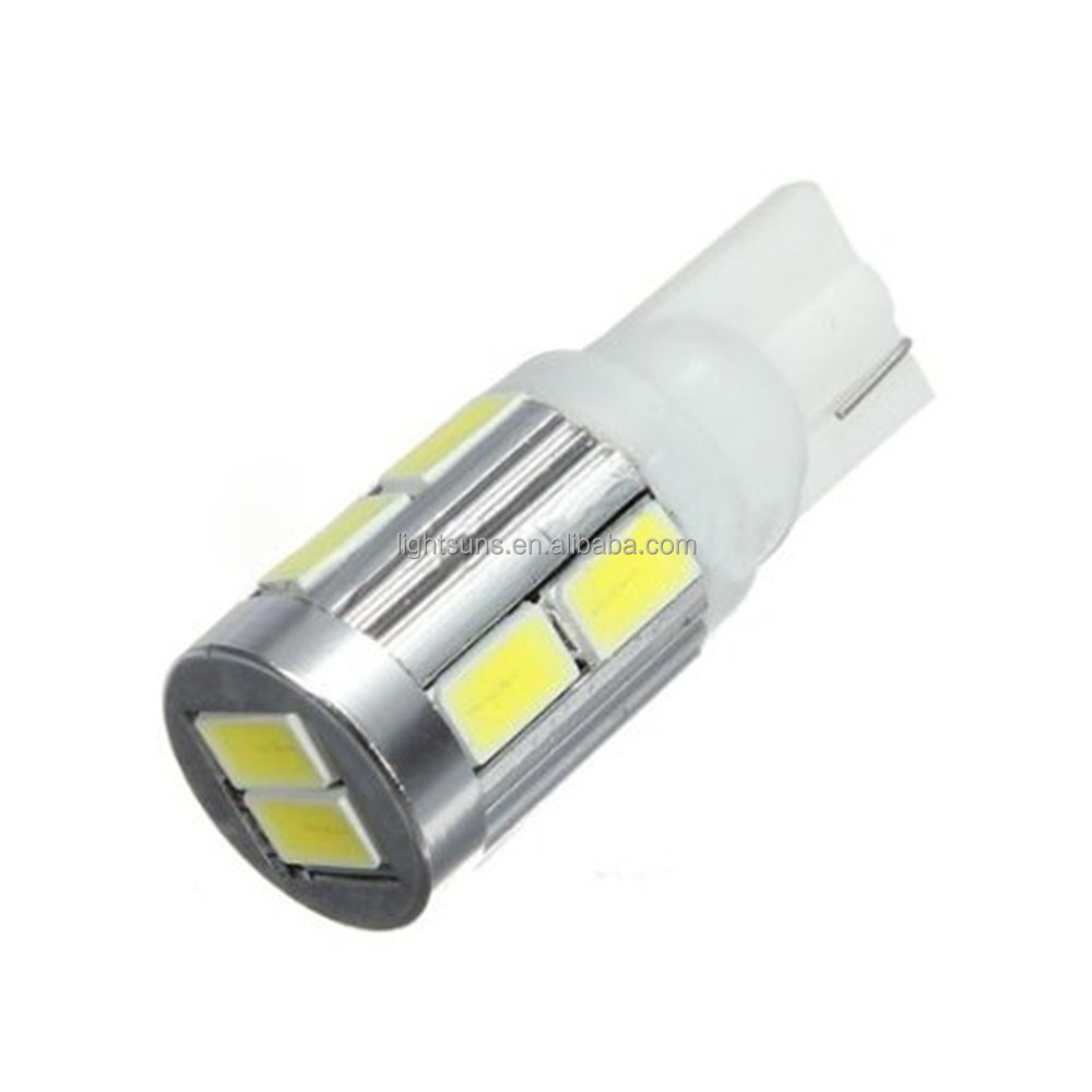 2 x T10 10 SMD 5630 194 501 W5W Car LED Light Bulbs Canbus ERROR Free Lamp White