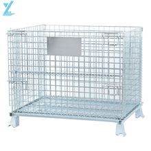 Industrial Warehouse Stackable Folding Metal Storage Cage