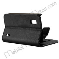 Wallet Style Magnetic Flip Stand Leather Case For LG E960 Nexus 4 With Credit Card Slots
