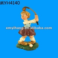 Strength young golfer figurine