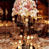 hot sell 9 arms crystal candelabra wedding centerpieces with flower bowl