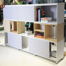 Unique design customsized size MDF with melamine finish material display stand for library book shelf