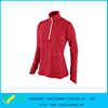 Turtle Collar Polyester Dri Fit Half Zipper Long Sleeve Runing Jersey