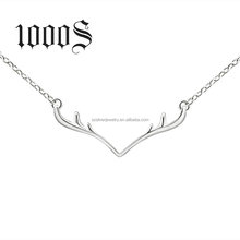 2016 Christmas Gift Hot Sale Reindeer horns 925 Sterling silver Necklace