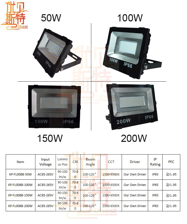 Best Selling 50W High Lumen Pure White LED Lighitng IP65 LED Outdoor Flood Lighting with 2 Years Warranty