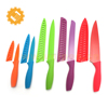 6 knives and 6 knife covers stainless steel 10 Piece Color Knife Set with Blade Guards and rubber handle