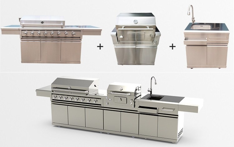 Stainless Steel Gas Bbq Grill with burners