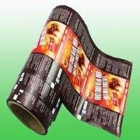 Coffee packaging film roll printed for auto packed