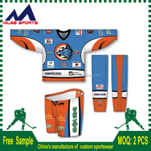 2016 high quality custom hockey jersey with fight straps
