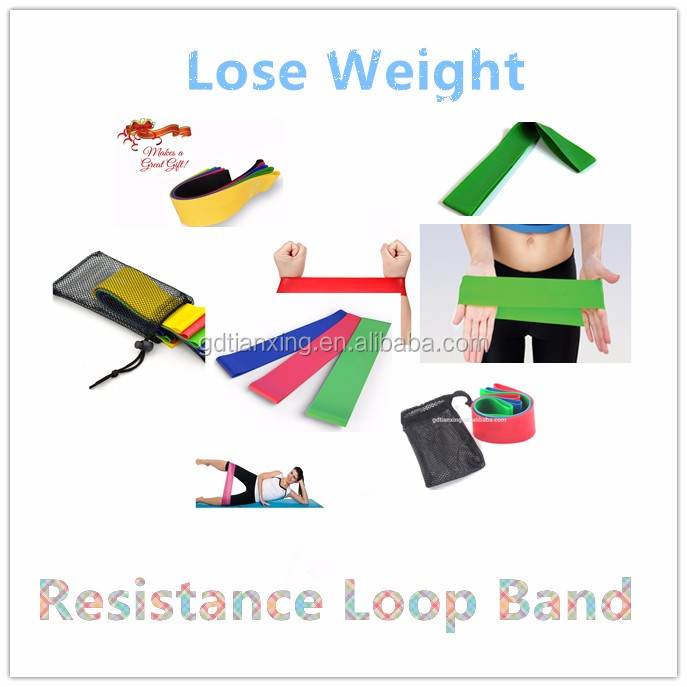 Private Label Latex Band Resistance Exercise Loop Band Set