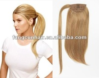 New style!!! 2013 Superior quality of Russian/European remy clip-in ponytail hair extension selling so fast