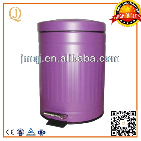 hot sales purple foot pedal garbage bin outdoor garbage bin stand for restaurant