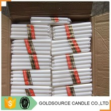 Tearless and smokeless white wax candle to Angola
