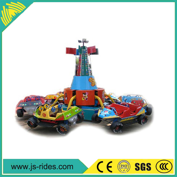 Rotating rides crazy dance car ride, crazy flying car for sale