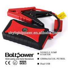 car emergency tool jump starter emergency use LED sos with 12000mah 4 usb
