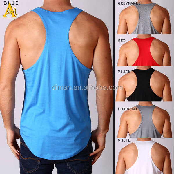 Cheap custom gym wear cotton singlet men