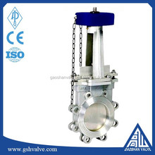 chain wheel flanged knife gate valve with high quality