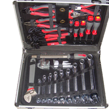2017 high quality aluminum tool set case hand tool kits 130pcs, tools boxes hard case,tool sets