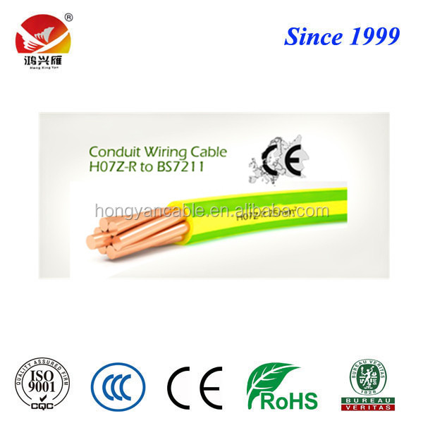 6491B, H07Z-R, BS7211, LSZH Electrical Wires and Cables
