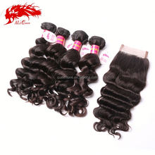 Direct Factory Wholesale Brazilian Hair remy loose curl Weave