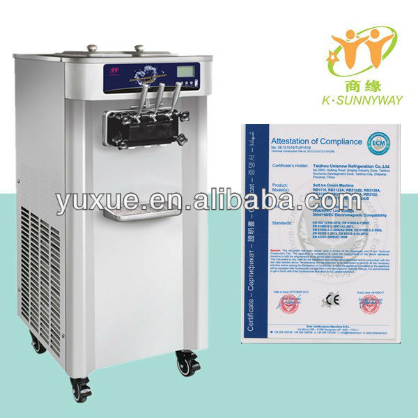 CE certificate Frozen Yogurt Machine for frozen yogurt and Ice cream stores 3122A