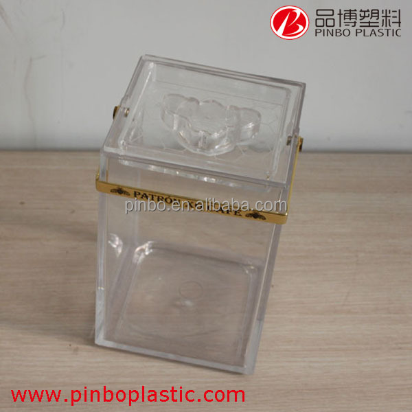 acrylic mini ice bin cooler,portable electric ice chest cooler acrylic ice bucket wholesale